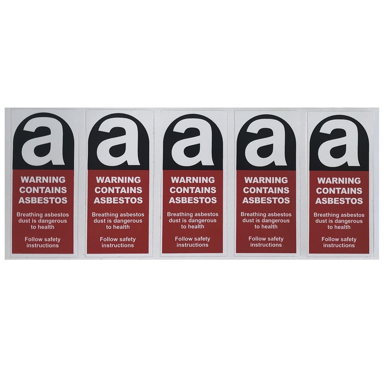 Sticker Warning Cont Asbestos 50x110mm 11 Warning