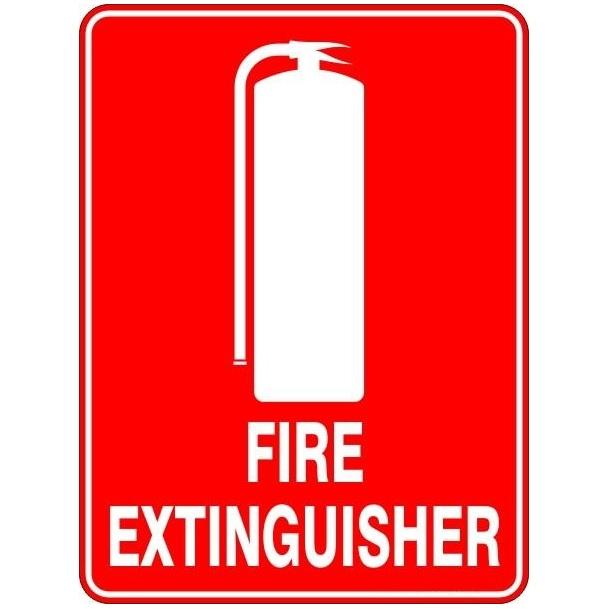 Fire Extinguisher With Picture Sign 11 Warning Signage