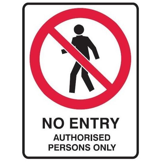 No Entry Authorised Personnel Only Sign 11 Warning