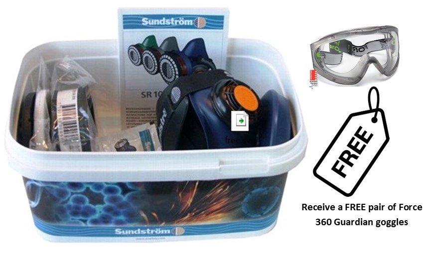 Sundstrom Asbestos Kit with Goggle Promo