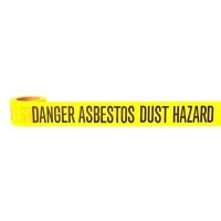 """Danger Asbestos Hazard"" Barrier Tape 60mtr - Click for more info"