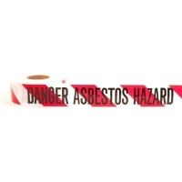 "Danger Asbestos Hazard"" Barrier Tape 300m"" - Click for more info"