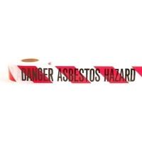 """Danger Asbestos Hazard"" Barrier Tape 300m - Click for more info"