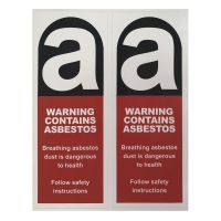 Sticker Warning Cont. Asbestos 90 x 230mm - Click for more info