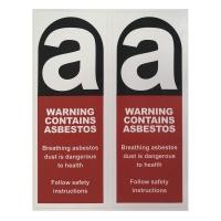 Asbestos Sticker 90 x 230mm 2/pk - Click for more info