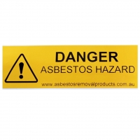 Yellow Danger Asbestos Sticker - Click for more info