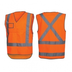 Force360 Orange Day & Night Rail  Safety Vest - Click for more info