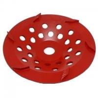 250mm Red 6 Segment Diamond Wheel - Click for more info