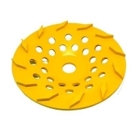 125mm Yellow 12 Segment Diamond Wheel - Click for more info