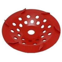 175mm Red 6 Segment Diamond Wheel - Click for more info