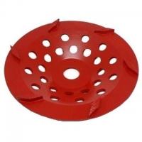 175mm Red 6 Segment Diamond Wheel - Click for more info