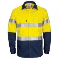 DNC WORWEAR DNC3409 - L/S Standard Weight HRC1 F/R Shirt - Click for more info