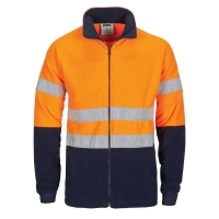 DNC HiVis two tone full zip polar fleece with generic R/Tape - Click for more info