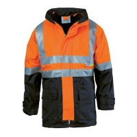 DNC 4 in 1 HiVis Two Tone Breathable Jacket with Vest and 3M R/Tape - Click for more info