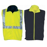 DNC HiVis Reversible Vest with 3M R/Tape - Click for more info