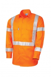 TRU WORKWEAR DS1166T5 - NSW Rail Long Sleeve Taped Shirt - Click for more info