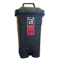 70ltr Wheelie Bin Dark Grey - Click for more info