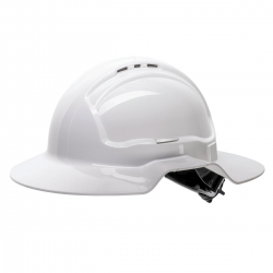 Force360 Broad Brim Hard Hat, Vented, 6 Point Ratchet Harness, Type 1 - Click for more info