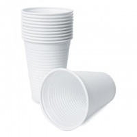 Drinking Cups - Plastic (200ml/White) - Click for more info