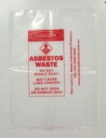 Asbestos Bag Small Individual - Click for more info