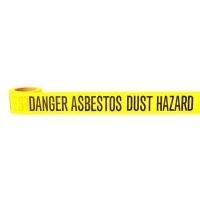 Danger Asbestos Dust Hazard Barrier Tape 50m - Click for more info