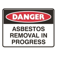 Danger Asbestos Removal in Progress Sign - Click for more info
