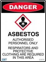 Danger Exploding Lung  Asbestos Sign - Click for more info