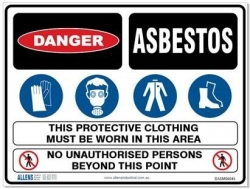 Multi-Condition Asbestos Sign - Click for more info