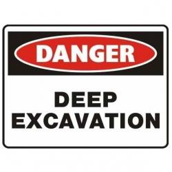Danger Deep Excavation Sign - Click for more info