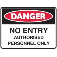 Danger No Entry Sign - Click for more info