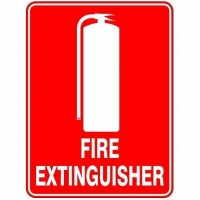 Fire Extinguisher with Picture Sign - Click for more info