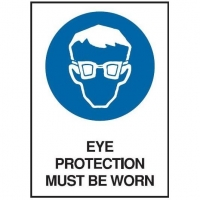Eye Protection Must Be Worn Sign - Click for more info