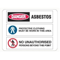 Multi Condition Asbestos Sign - Click for more info