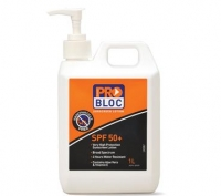 ProBloc SPF 50+ 1 Litre Sunscreen Pump Bottle - Click for more info