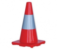 Orange Hi-Vis Traffic Cones wi/ reflect band - 450mm - Click for more info