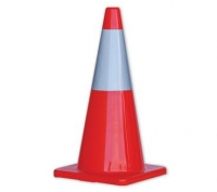 Orange Hi-Vis Traffic Cones w/ reflect band - 700mm - Click for more info