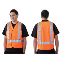 Fluoro Orange H Back Safety Vest - Day/Night Use - Click for more info