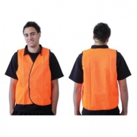 Fluoro Orange Safety Vest - Day Use - Click for more info