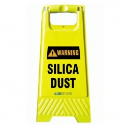 Warning Silica Dust A Frame - Click for more info