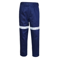 Ritemate RM1002R Navy belt loop trouser with 3M 8910 reflective tape - Click for more info