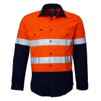 RITEMATE RM1050R - Long Sleeve Standard Weight Drill Shirt - Click for more info
