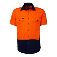 Short Sleeve Standard Weight Drill Shirt - Click for more info
