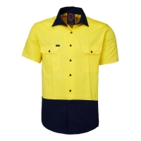 Ritemate Two Tone Short Sleeve Shirt - Click for more info
