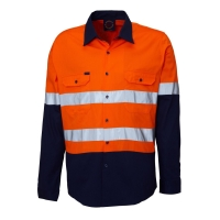 RITEMATE RM107V2R - Long Sleeve Light Weight Vented Drill Shirt - Click for more info