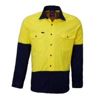 RITEMATE RM107V2 - Long Sleeve Light Weight Vented Drill Shirt - Click for more info