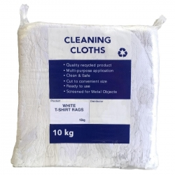White T-Shirt Rags 10kg - Click for more info