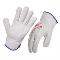 Cobra Rigger Grey Full Grain Leather Glove - Click for more info