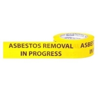 Asbestos Removal In Progress PVC Tape - Click for more info
