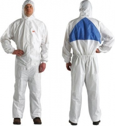 3M UU0015015 - 4540+ Coverall Type5/6 White/Blue - Click for more info
