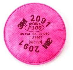 3M 2091 - P100 (NIOSH) Filters Pair - Click for more info